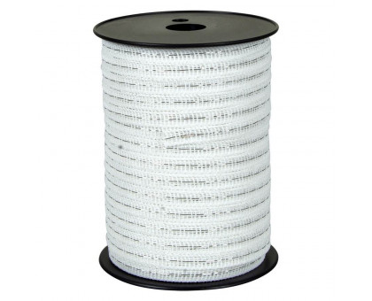 Лента для электропастуха FARMER белая 10 мм, 200 м
