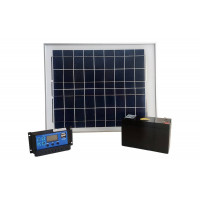 Солнечная система с аккумулятором для электропастуха